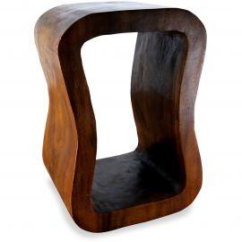 Massivholzsäule, asiatischer Loungetisch *braun*