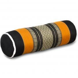 Kapok Nackenrolle, schwarz / orange