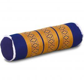 Kapok Nackenrolle, Nackenstütze, blau / gelb
