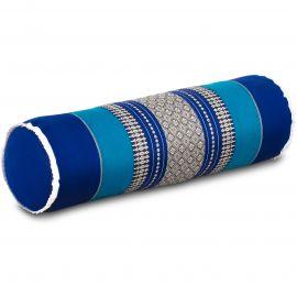 Kapok Nackenrolle, Nackenkissen, blau