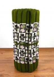 (Auslaufmodell) Nr.54 Kapok Rollmatte, Thaimatte, Gr. M, grün / Schmetterling