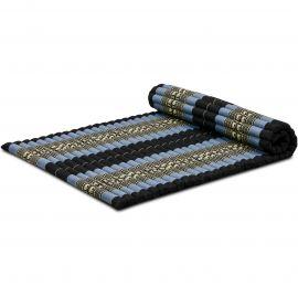 Kapok Rollmatte, Thaimatte, Gr. L, blau/Elefanten
