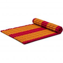Kapok Rollmatte, Thaimatte, Gr. L, rot/gelb