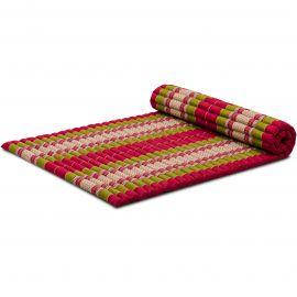 Kapok Rollmatte, Thaimatte, Gr. L, rot/grün