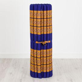 Kapok Rollmatte, Thaimatte, Gr. L, blau/gelb