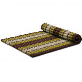 Kapok Rollmatte, Thaimatte, Gr. L, braun/grün