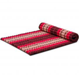 Kapok Rollmatte, Thaimatte, Gr. L, rubinrot