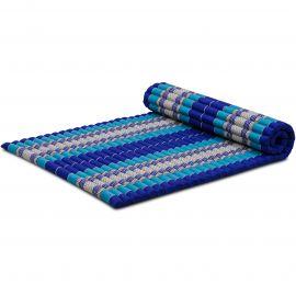 Kapok Rollmatte, Thaimatte, Gr. L, blau
