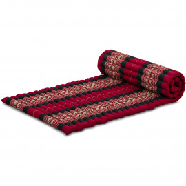 Kapok Rollmatte, Thaimatte, Gr. M, rot/Elefanten