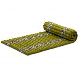 Kapok Rollmatte, Thaimatte, Gr. M, grün/Elefanten