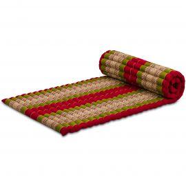 Kapok Rollmatte, Thaimatte, Gr. M, rot/grün