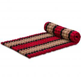 Kapok Rollmatte, Thaimatte, Gr. M, rot/schwarz