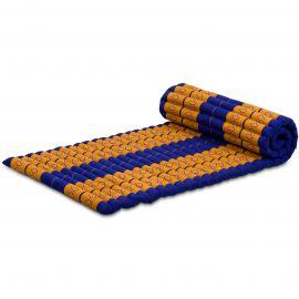 Kapok Rollmatte, Thaimatte, Gr. M, blau/gelb