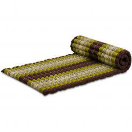 Kapok Rollmatte, Thaimatte, Gr. M, braun/grün