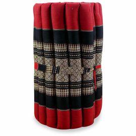 (B-Ware) Nr.98 Kapok Rollmatte, Thaimatte, Gr.S, rot / schwarz