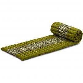 Kapok Rollmatte, Thaimatte,  Gr.S,  grün/Elefanten