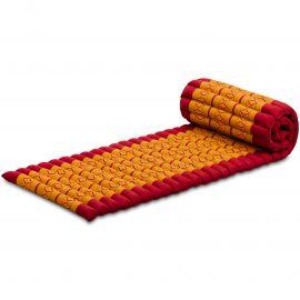 Kapok Rollmatte, Thaimatte,  Gr.S,  rot / gelb