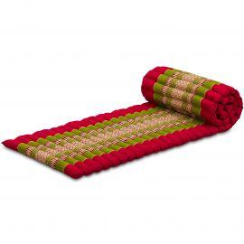 Kapok Rollmatte, Thaimatte,  Gr.S,  rot/grün
