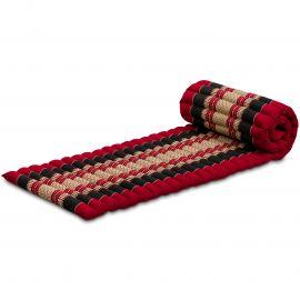Kapok Rollmatte, Thaimatte,  Gr.S,  rot / schwarz