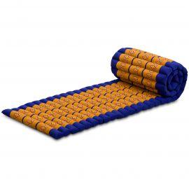 Kapok Rollmatte, Thaimatte,  Gr.S,  blau/gelb