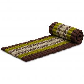 Kapok Rollmatte, Thaimatte,  Gr.S,  braun/grün