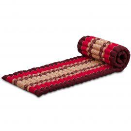 Kapok Rollmatte, Thaimatte,  Gr.S,  rubinrot