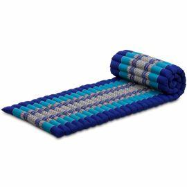 (B-Ware) Nr.134 Kapok Rollmatte, Thaimatte, Gr.S, blau