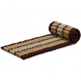 Kapok Rollmatte, Thaimatte,  Gr. S,  braun