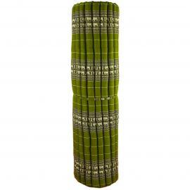 Kapok Rollmatte, Thaimatte, Gr. XXL grün / Elefanten