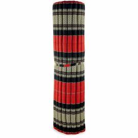 Kapok Rollmatte, Thaimatte, Gr. XXL rot / schwarz