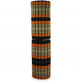 Kapok Rollmatte, Thaimatte, Gr. XXL schwarz / orange