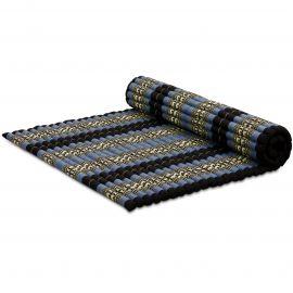 Kapok Rollmatte, Thaimatte, Gr. XL  blau/Elefanten