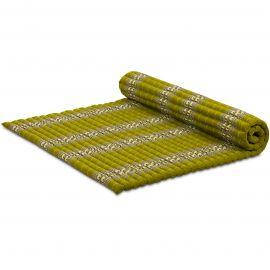 Kapok Rollmatte, Thaimatte, Gr. XL  grün/Elefanten