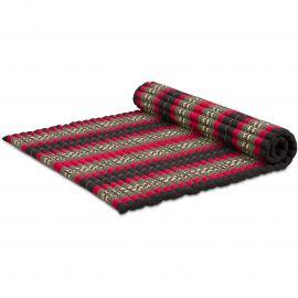 Kapok Rollmatte, Thaimatte, Gr. XL  schwarz/Elefanten