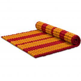 Kapok Rollmatte, Thaimatte, Gr. XL  rot/gelb