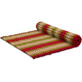 Kapok Rollmatte, Thaimatte, Gr. XL  rot/grün