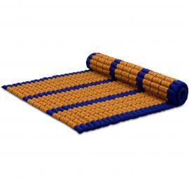 Kapok Rollmatte, Thaimatte, Gr. XL  blau/gelb