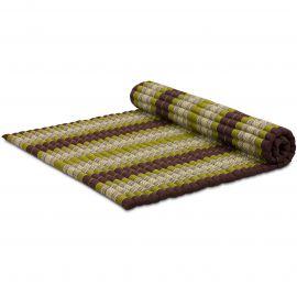 Kapok Rollmatte, Thaimatte, Gr. XL  braun/grün