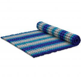 Kapok Rollmatte, Thaimatte, Gr. XL  blau