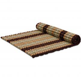 Kapok Rollmatte, Thaimatte, Gr. XL  braun