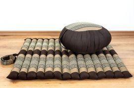 Kapok, Zafukissen mit kleiner Rollmatte XS, braun