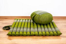 Kapok, Zafukissen mit kleiner Rollmatte XS, grün