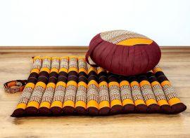 Kapok, Zafukissen mit kleiner Rollmatte XS, orange