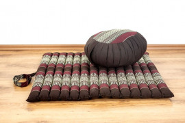 Kapok, Zafukissen mit kleiner Rollmatte XS, weinrot