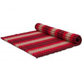 Kapok Rollmatte, Thaimatte, Gr. XL  rubinrot
