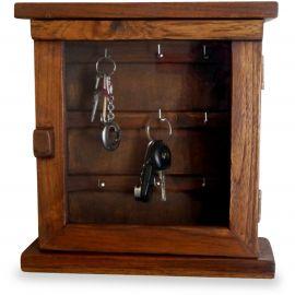 Teakholz  Schlüsselschränkchen mit Glastür