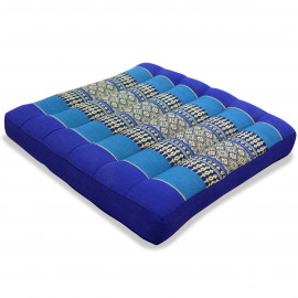 Kapok Sitzkissen, Thaikissen, Gr. M, blau