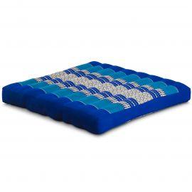 Kapok Sitzkissen, Thaikissen, Gr. L, blau