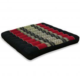 Kapok Sitzkissen, Thaikissen, Gr. L, schwarz / rot