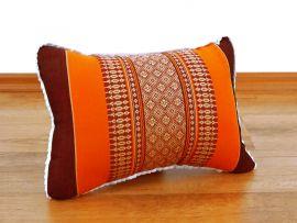 kleines Dekokissen orange, 33 x 22 x 13 cm